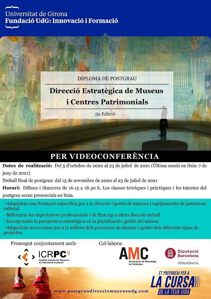 5a edició del Diploma de Postgrau Direcció Estratègica de Museus i Centres Patrimonials