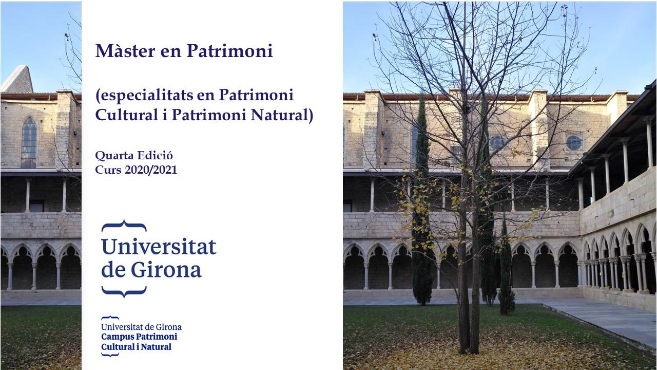 Màster en Patrimoni (Especialitats en Patrimoni Natural i Cultural)