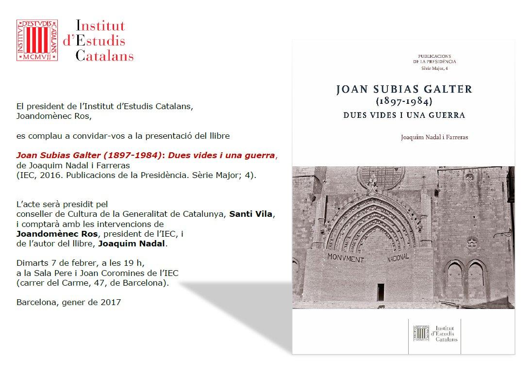 presentacio-a-barcelona-de-la-publicacio-joan-subias-galter-1897-1984-dues-vides-i-una-guerra-del-dr-joaquim-nadal-i-farreras